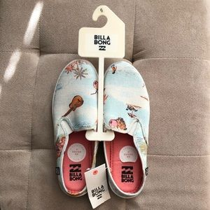 "Billabong ""Be Free"" slip on shoes"
